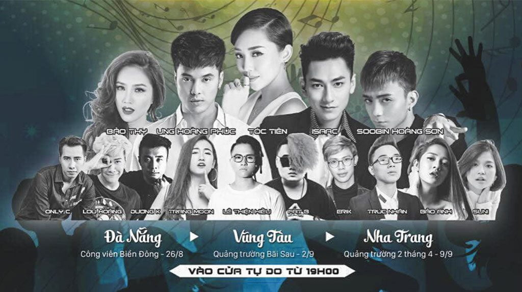 "Danh sach ca si ""quay"" dem 2.9 tai Quang truong bai Sau Vung Tau"