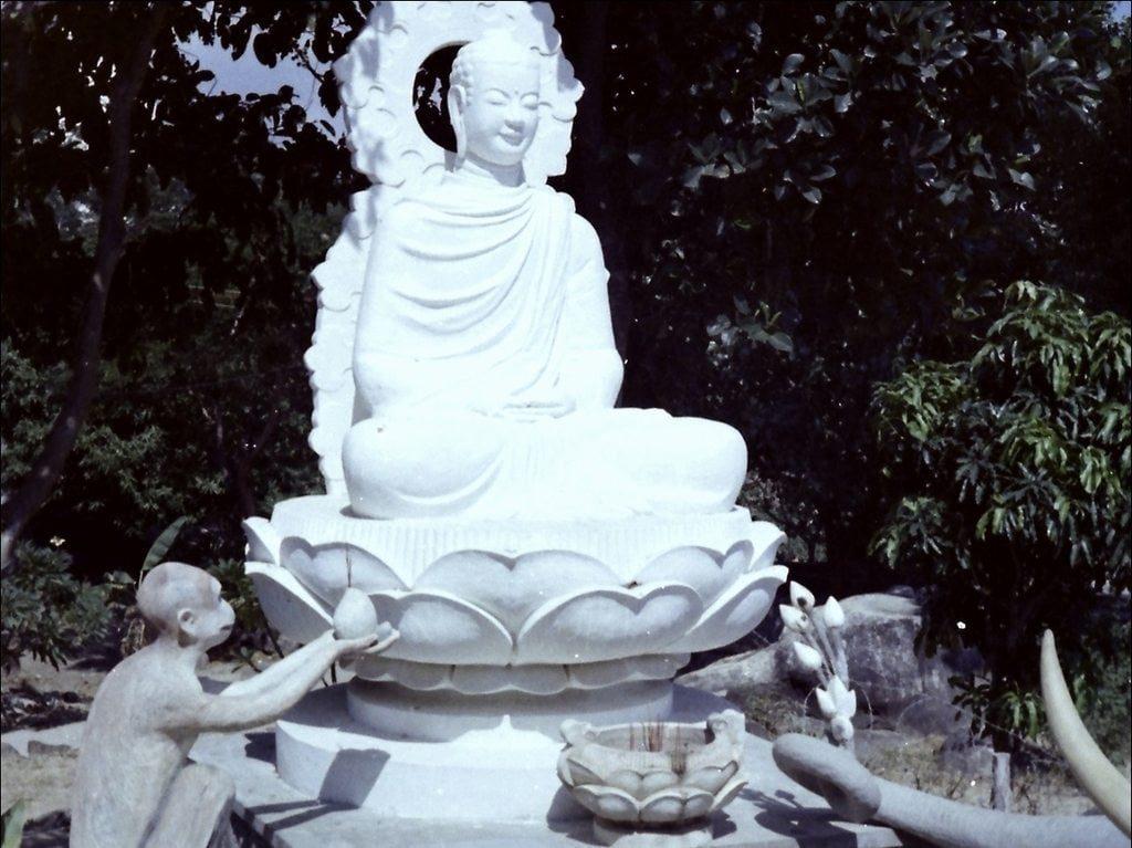 Một bức tượng Phật ở Thích Ca Phật Đài