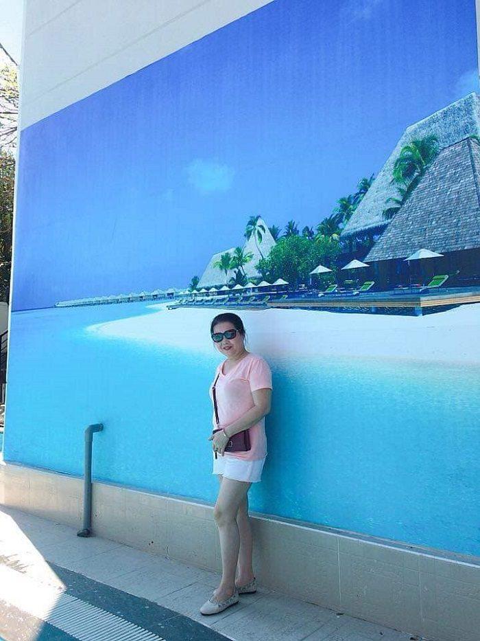 Hình ảnh gia đình chị Kim Tuyến vui xuân tại biệt thự Vũng Tàu Ali3B 3